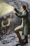 Davy Testing His Mining Lamp
