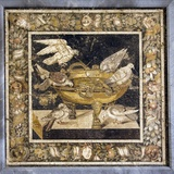 Doves on a Drinking Vessel  Roman Mosaic