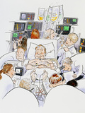 Caricature of An Intensive Care Ward