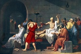 The Death of Socrates  1787 Artwork