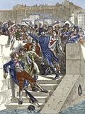 Mob Attacking Jacquard In Lyon  France