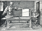 Artist Drawing a Lute
