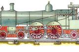 Early American Steam Locomotive