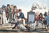 Motorcycle In 1818  Historical Artwork
