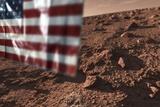 US Flag on Mars  Artwork