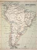 Darwin's Beagle Voyage Map South America
