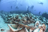 Divers At a Shipwrec