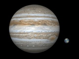 Jupiter And Earth Compared  Artwork
