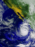 Satellite Image of Hurricane Nora Over the Pacific