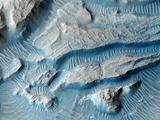 Martian Crater Rim  Satellite Image
