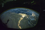 North Africa At Night  ISS Image