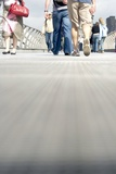 Pedestrians on the Millennium Footbridge