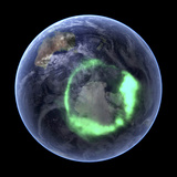 Aurora Over Antarctica  Satellite Image