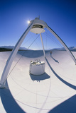 Man on a VLBA Radio Telescope  Owens Valley  USA