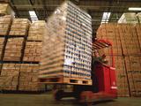 Fork-lift Truck In Warehouse