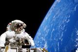 Astronaut Performing a Spacewalk