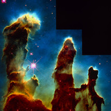 Gas Pillars In Eagle Nebula