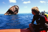 Diver And Shipwreck