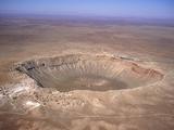 Aerial View of Meteor Crater  Arizona