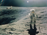 Astronaut Duke Next To Plum Crater  Apollo 16