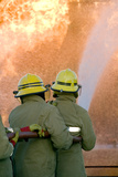 Firefighters Extinguishing a Fire