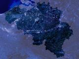Belgium by Night  Satellite Image