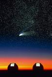Telescope Domes on Mauna Kea with Hale-Bo