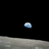 Earthrise Over Moon  Apollo 8