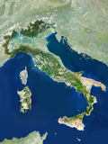 Italy  Satellite Image