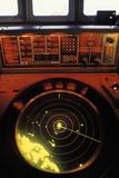 Radar Screen on Bridge of Ship