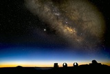Milky Way And Observatories  Hawaii