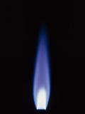 Propane Gas Flame From Bunsen Burner