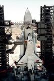 Russian Buran Space Shuttle on Launchpad