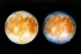 Two Views of Europa From the Galileo Spacecraft
