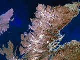 True-colour Satellite Image of Northern Scotland