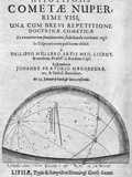Frontispiece of Hypotyposis Cometae