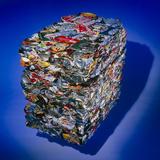Aluminium Recycling: Compressed Aluminium Cans