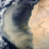 Dust Storm Over the Cape Verde Islands