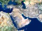 Middle East  Satellite Image