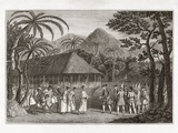 Captain Wallace And Tahitians  1767