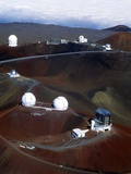 Aerial View of Observatories At Mauna Kea  Hawaii