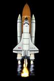 Space Shuttle Launch  Computer Artwork