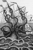 Octopus Attacking a Ship