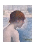 Bathers at Asnieres  1884 (Detail)