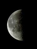 Optical Image of a Waning Half Moon