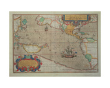 Map of the Pacific  China and America  1589 by Abrahamus Ortelius