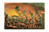 View of the Great Fire in New York  December 16th-17th 1835  Engraved by William James Bennett…