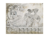 Oratorio Performance at the Drury Lane Theatre  Part One of a Triptych  1814