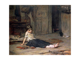 Girl by the Fireside  1867