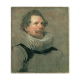 Portrait of a Man Wearing a Millstone Collar  17th Century